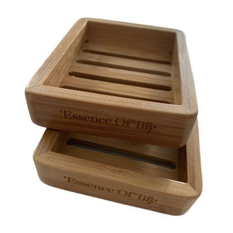 100% Biodegradable Bamboo Soap Dish by Essence of Life