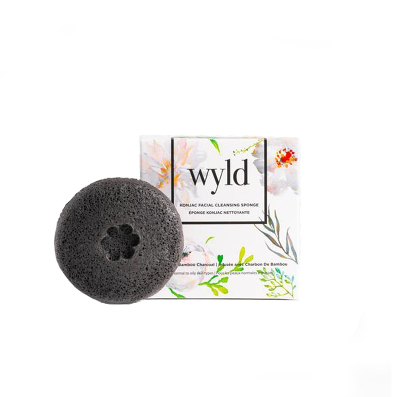 Activated Charcoal Konjac Face Sponge by Wyld Skincare