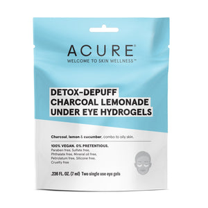 Acure Detox- Depuff Charcoal Lemonade Under-Eye Hydrogels by Acure
