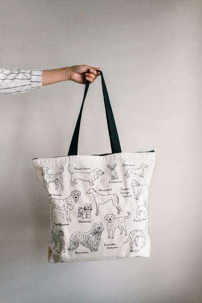 Alphabet Dogs Tote by Gotamago