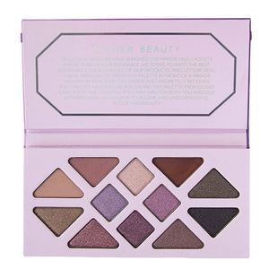 Amethyst Crystal Gemstone Palette by Aether Beauty