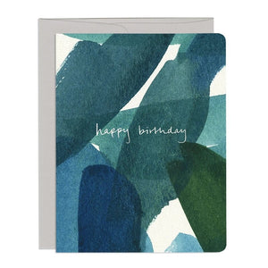 Blue and Green Birthday Card by Gotamago