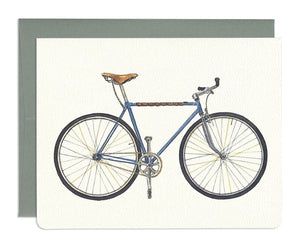 Blue Bicycle Card by Gotamago