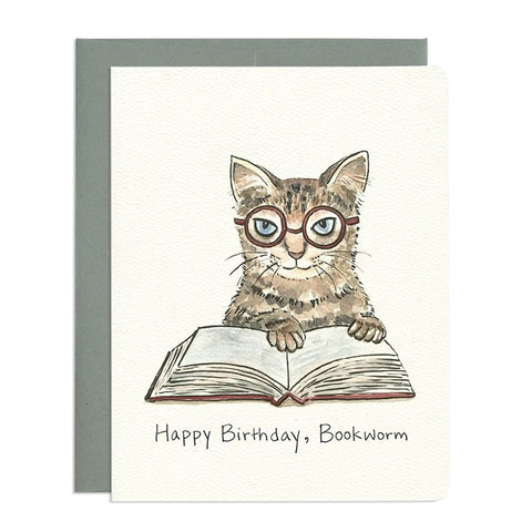 Bookworm Card by Gotamago