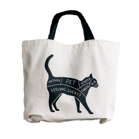 Cat and Dog Double-Sided Tote by Gotamago