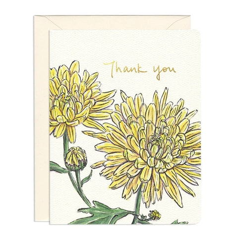 Chrysanthemum Thank You Card by Gotamago