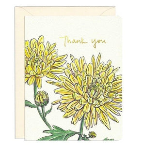 Chrysanthemum Thank you - mini card by Gotamago