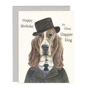 Dapper Dog Card by Gotamago
