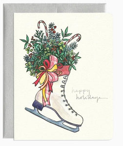 Figure Skate Wreath Card by Gotamago