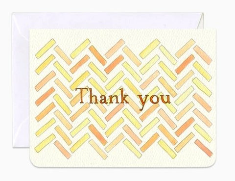 Herringbone Thank you - mini card by Gotamago