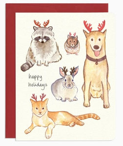Holiday Antlers Card by Gotamago