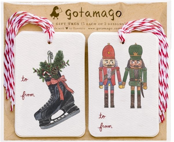 Holiday Gift Tags by Gotamago