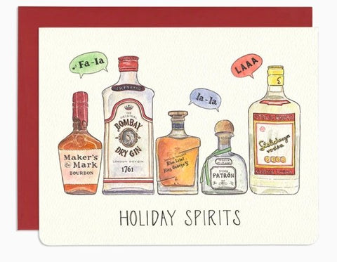 Holiday Spirits Card by Gotamago