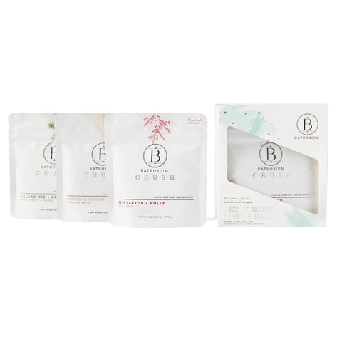Let it Soak' Holiday Trio 3-pack Gift Set by Bathorium