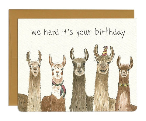 Llama Birthday Card by Gotamago