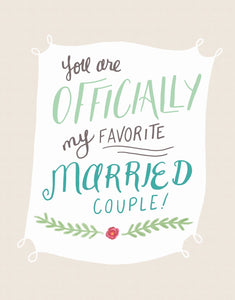 Married Couple Card by Sea +Lake