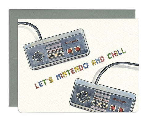 Nintendo and Chill Card by Gotamago