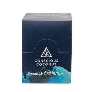 Organic Coconut Oil Wipes (25 Count) by Conscious Coconut
