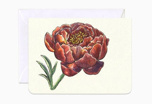 Peony Queen of Flowers- mini card by Gotamago