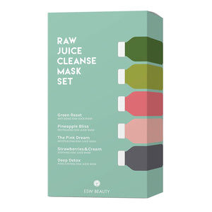 Raw Juice Cleanse Mask Set by ESW Beauty