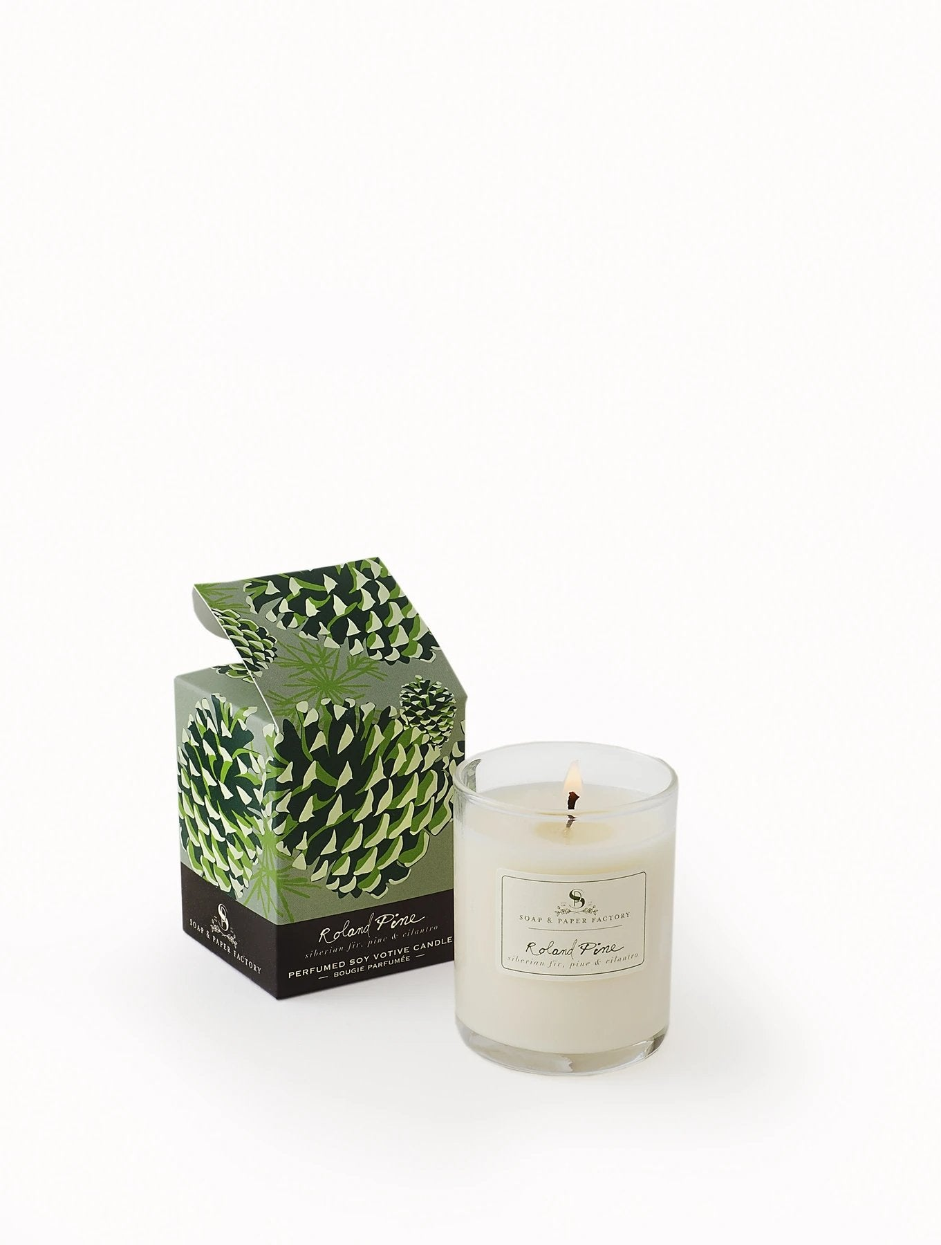 Roland Pine Votive Soy Candle by Soap & Paper Factory