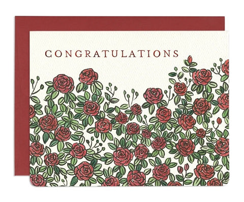 Roses Congratulations Card by Gotamago