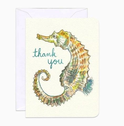 Seahorse Thank you- mini card by Gotamago