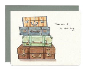 The World is Waiting Card by Gotamago
