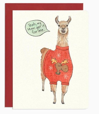 Ugly Sweater Llama by Gotamago