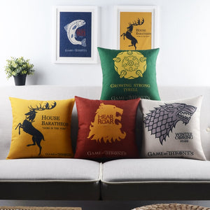 Game of Thrones Throw Pillow Case
