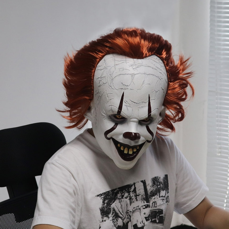 Halloween Clown.Pennywise Mask Stephen King It Chapter Two 2 Clown Halloween