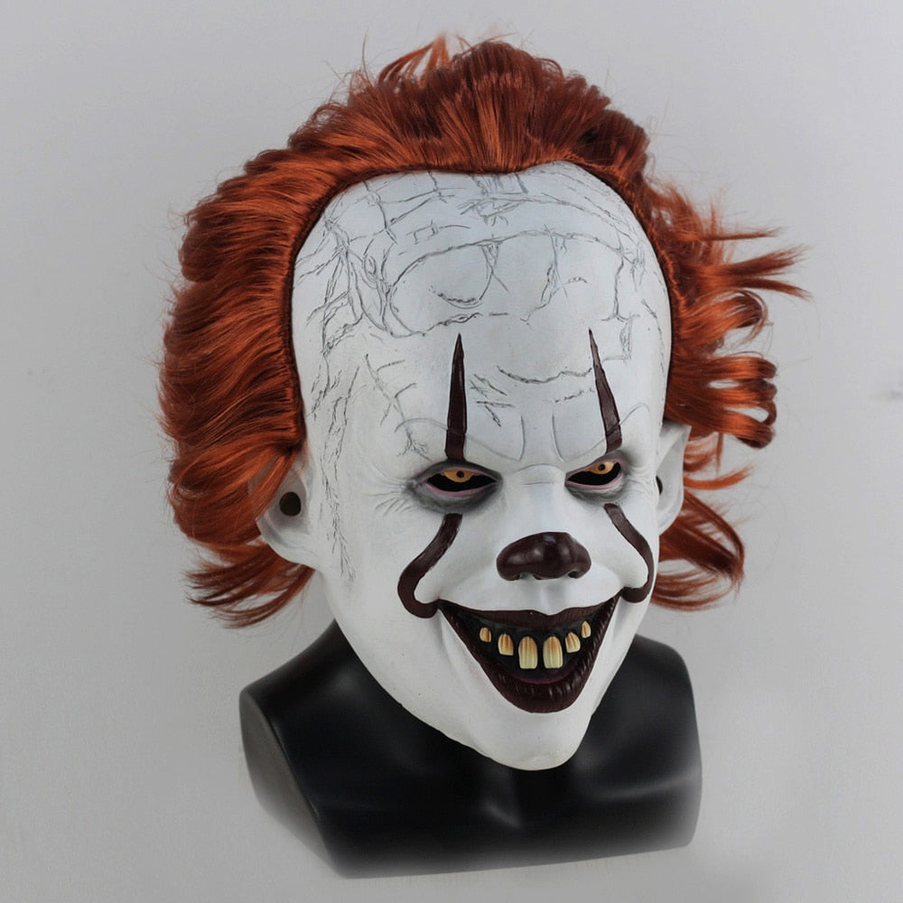 Pennywise Mask Stephen King It Chapter Two 2 Clown Halloween