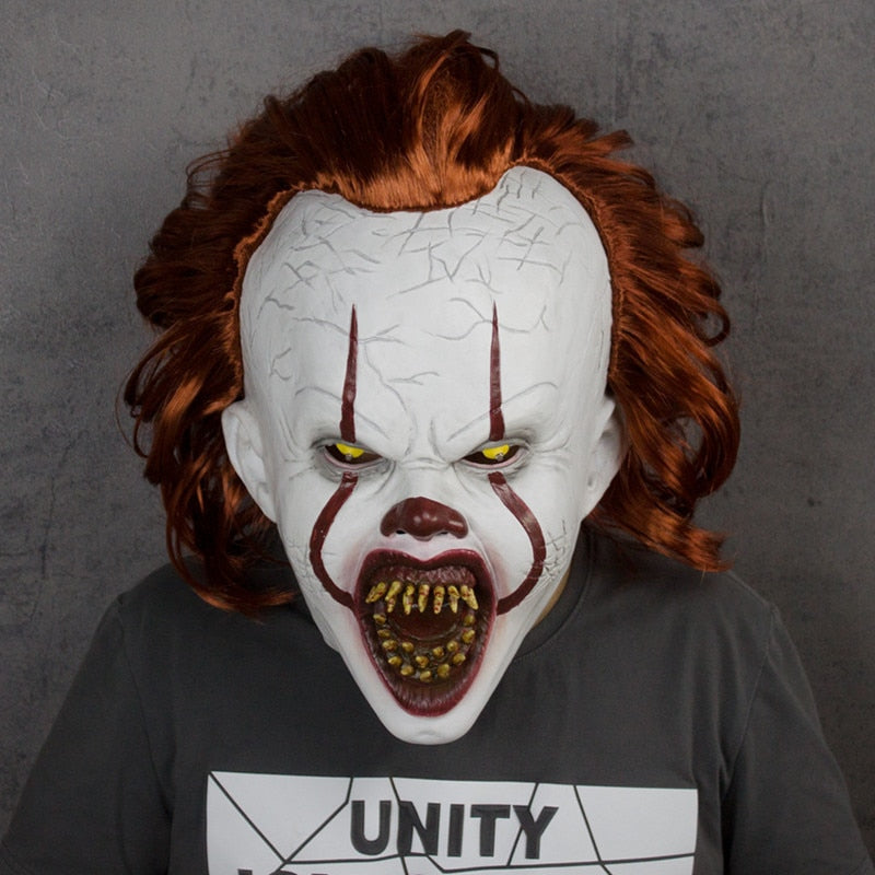 Stephen King's It Pennywise Mask Horror Clown Mask LED