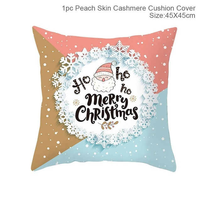 "18x18"" Christmas Xmas Pillow Throw Merry Cushion Deer Red Plaid Cover Case Gift"