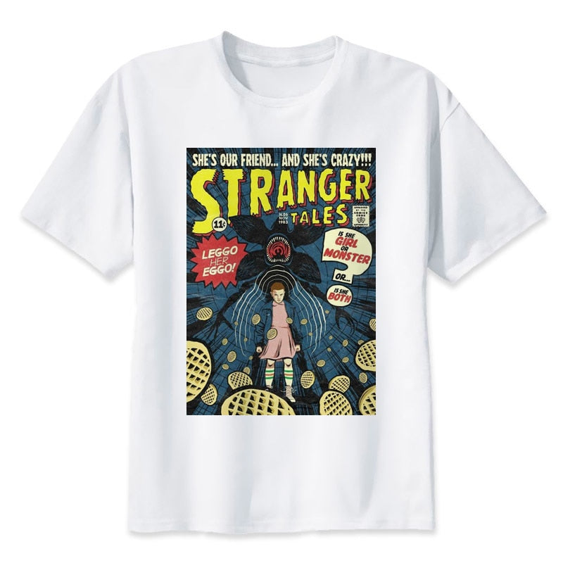 Stranger Things T-shirt O-neck Summer Tshirt