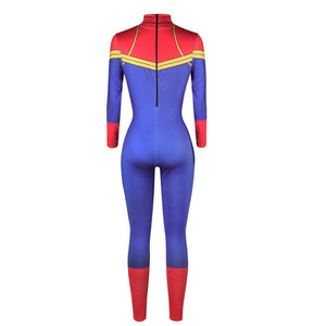 Captain Marvel Jumpsuit Catsuit Costume