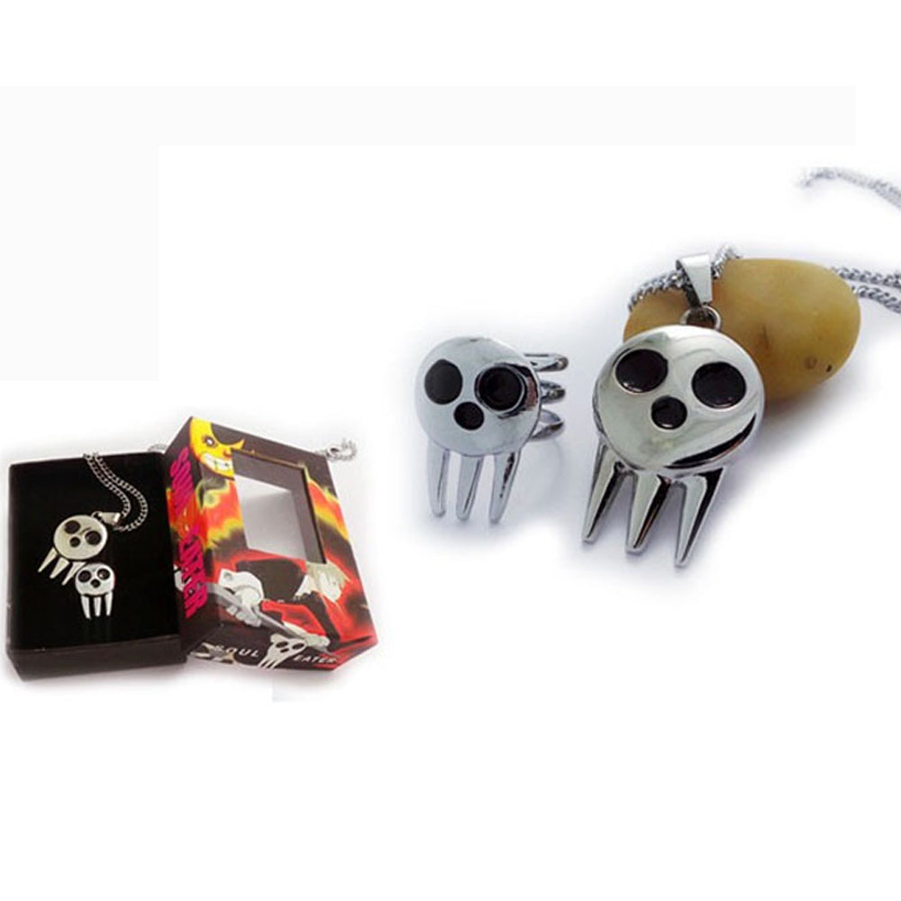Soul Eater Death The Kid Ring Pendant
