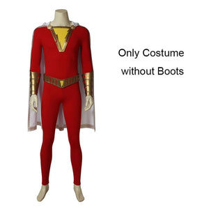 Marvel Captain Shazam Billy Batson Costume