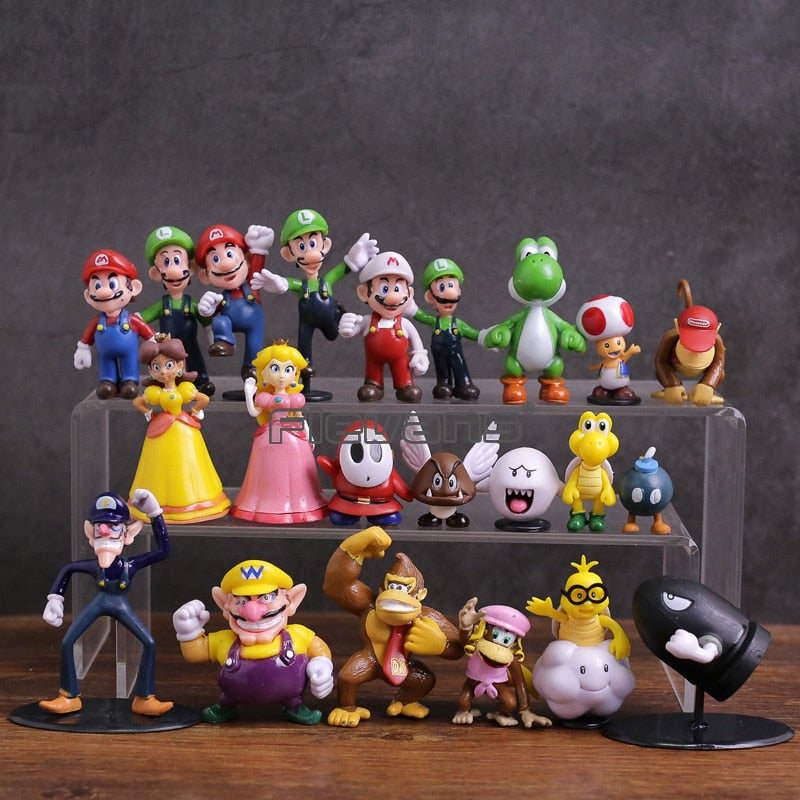 Super Mario Bros Family Figures