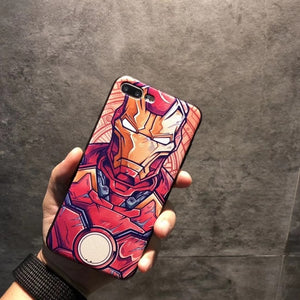 3D MARVEL ANGRY EMBOSSED CAPTAIN AMERICA IRON MAN HEROES CASE