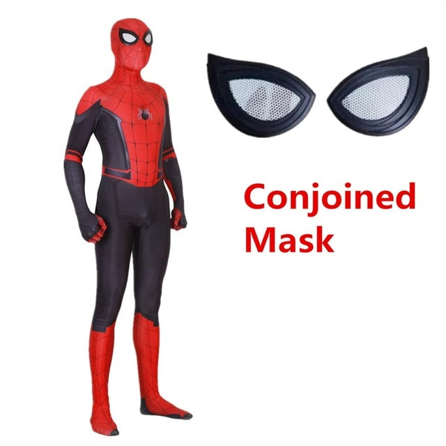 Spider Man Far From Home Peter Parker Adult Kids Cosplay Costume