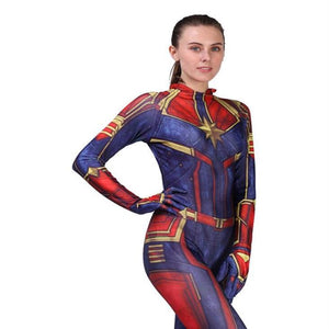 2019 Movie Captain Marvel Carol Danvers Costume