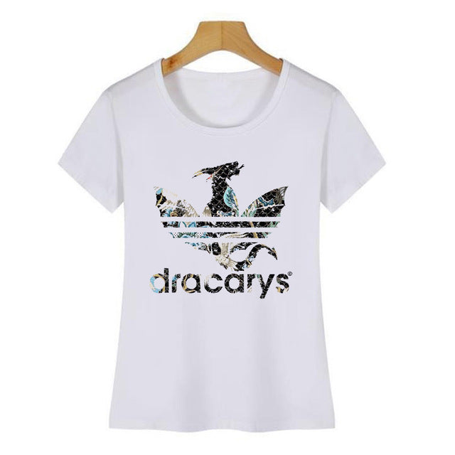 Dracarys Dragon T Shirt For Women Harajuku Game of Thrones Graphic Tees