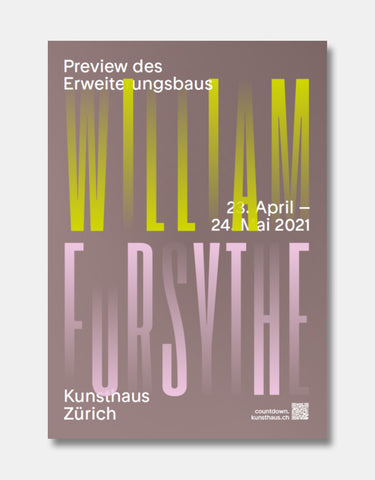 William Forsythe [Ausstellungsplakat]