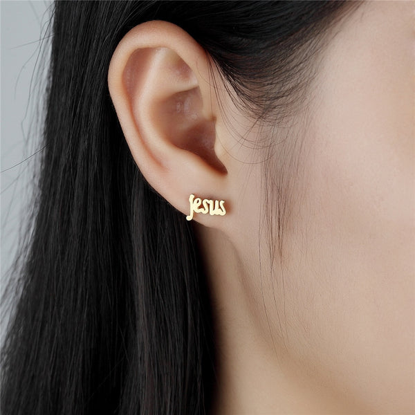 Jesus Stud Earrings - TheGivenGet