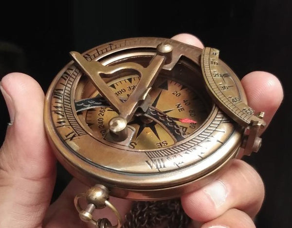 Personalized Engraved Antique Compass - TheGivenGet