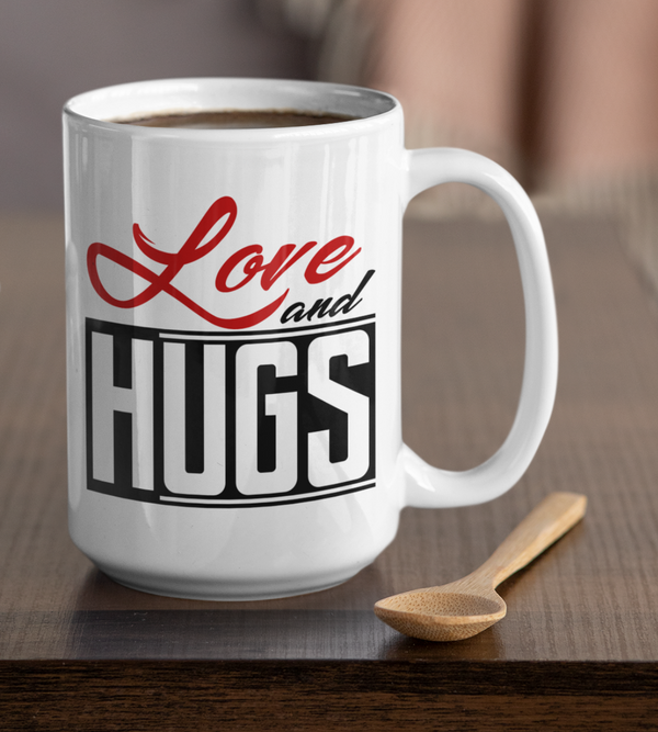 Love And Hugs White Mug - TheGivenGet