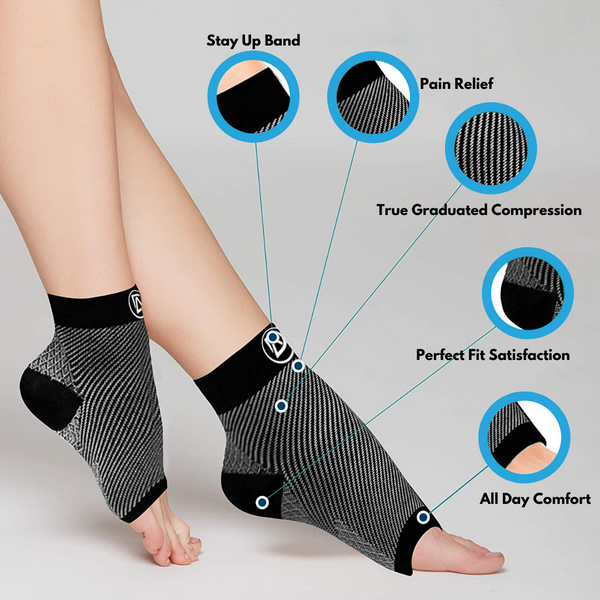 Dominion Active Comfort Anti Fatigue Foot Compression Sleeves ( 3 Colors) - TheGivenGet