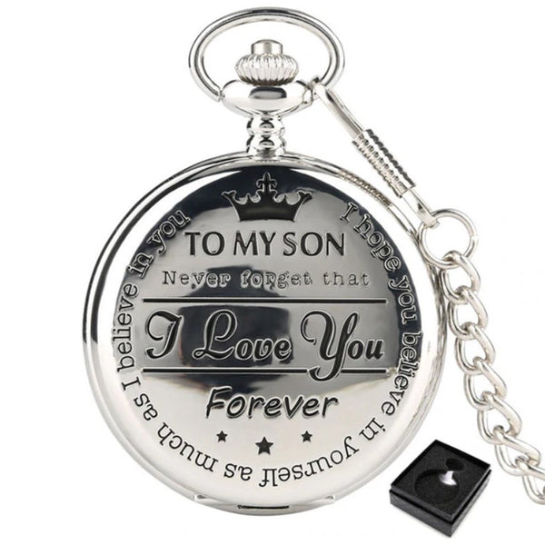 To My Son Quartz Pocket Watch - TheGivenGet