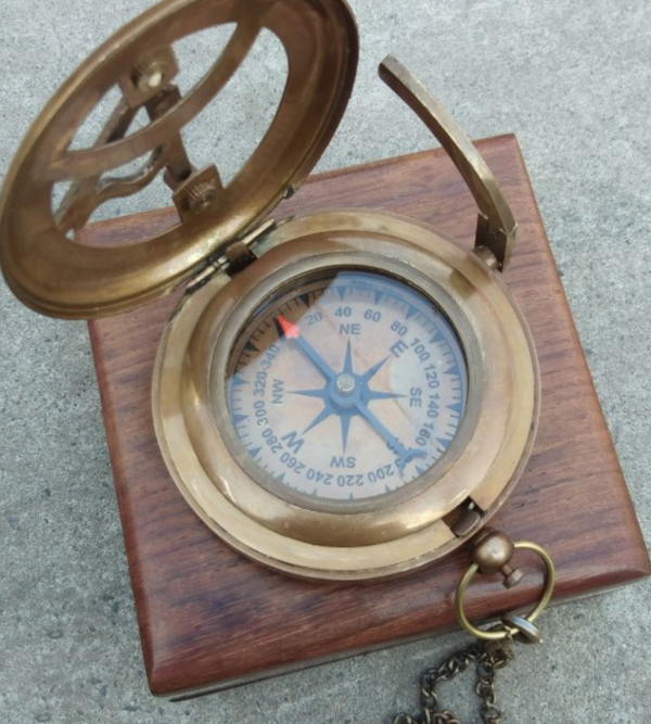 Personalized Engraved Antique Compass